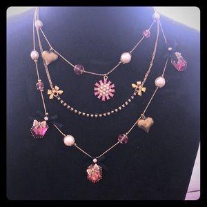 Betsey Johnson Trinket Necklace Sample